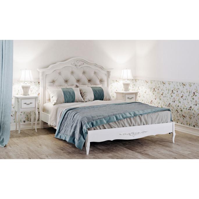 Кровать с мягким изголовьем 160*200 Silvery Rome