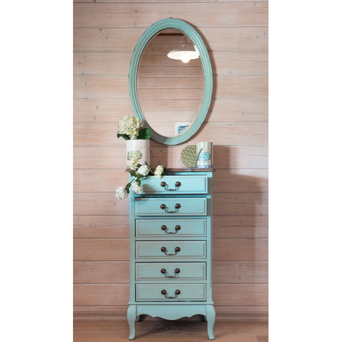 Овальное зеркало (голубое) ST9133AB