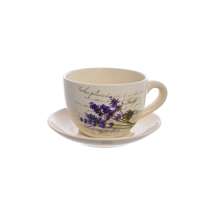 Кашпо- чашка Лаванда (15см) 35406(123)