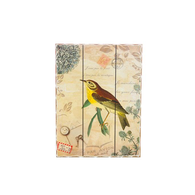 Панно птица с лимонной грудкой H2/4