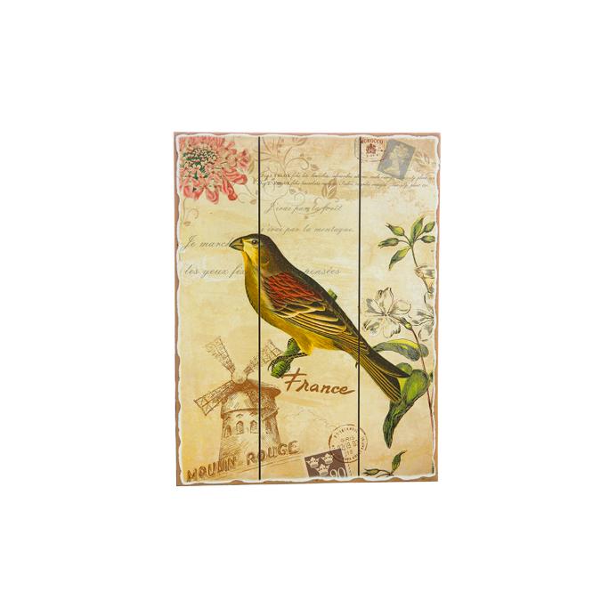 Панно птица с желтой грудкой H2/8