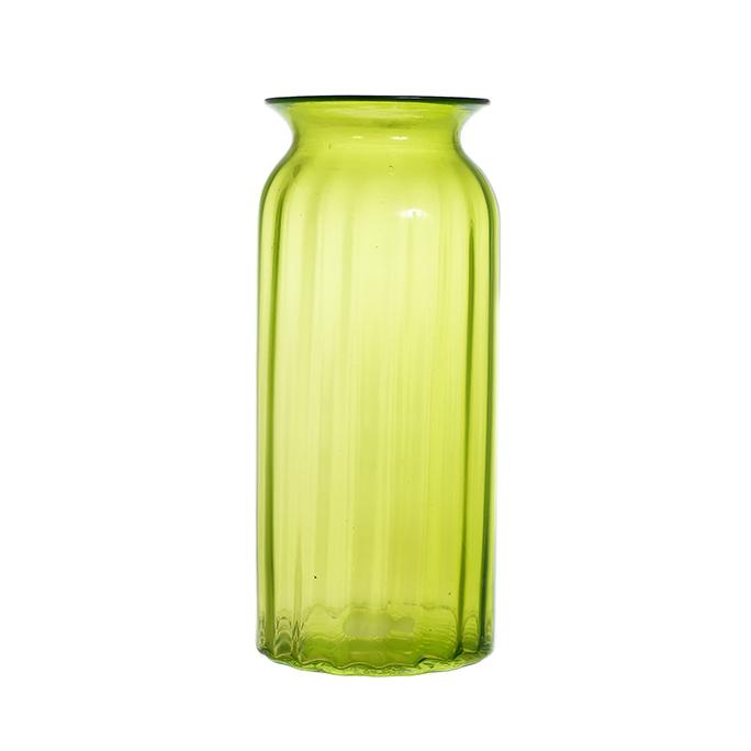 Ваза стеклянная зеленая большая A2-зел