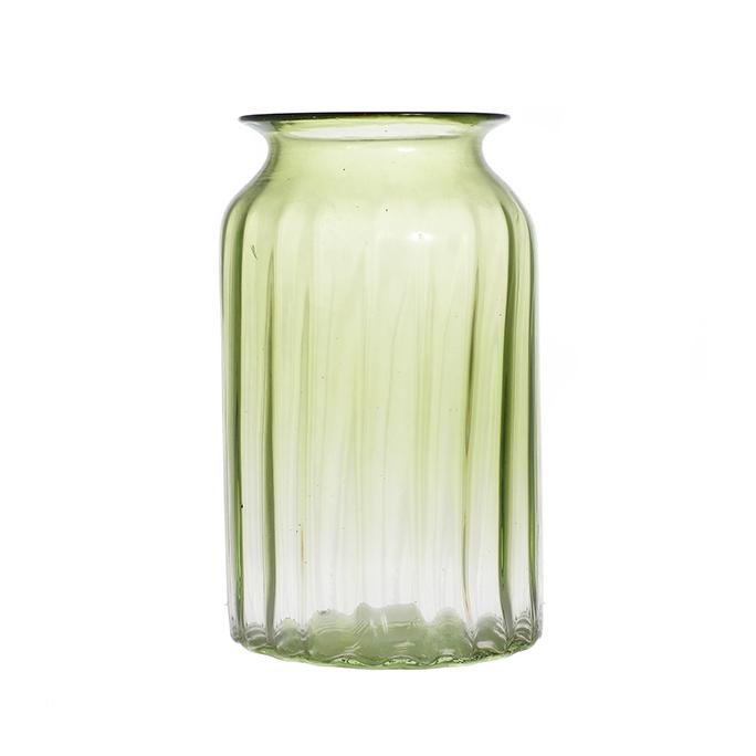 Ваза стеклянная зеленая малая A4-зел