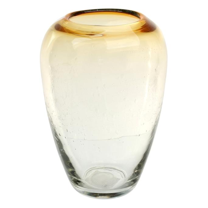 Ваза стеклянная (ручная работа) H22 MaxØ 15 см DG23-0008