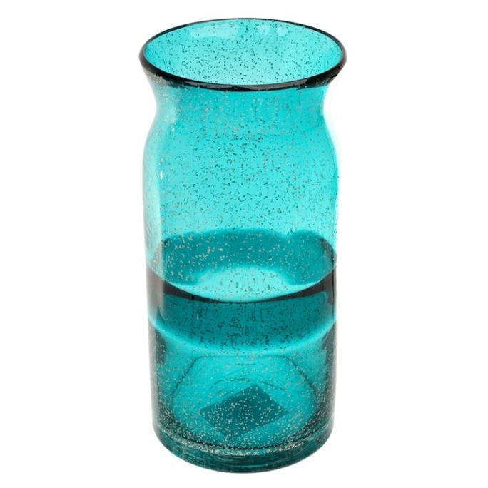 Ваза стеклянная (ручная работа) H30 MaxØ 12 см DG52-0002