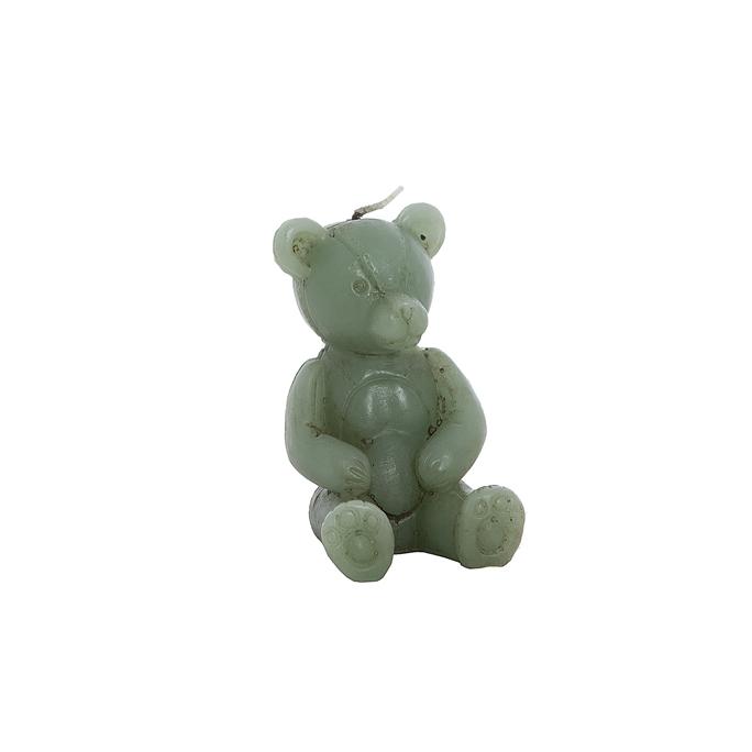 Свеча мишка зеленый 7х6х10см F101427BB