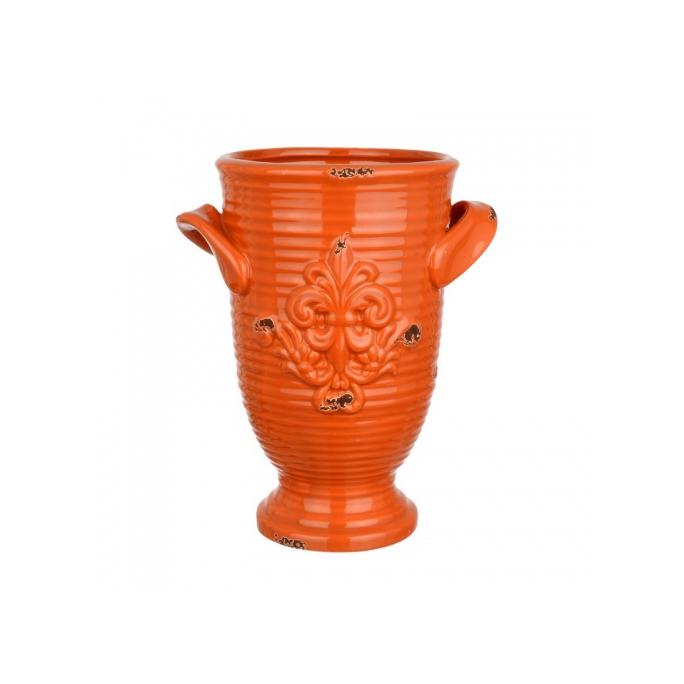 Ваза Керамическая оранжевая 17х14х22 FD07-0011