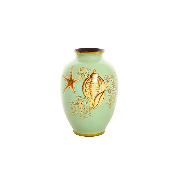 Ваза из глины Морская ракушка H19388-033-10