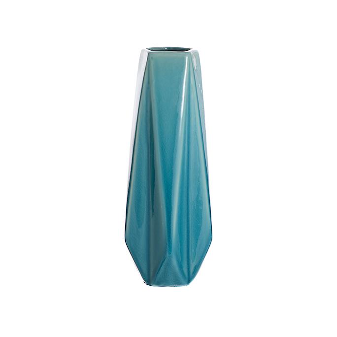 Ваза керамическая голубая роза (35см) L176
