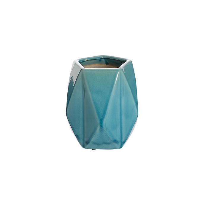 Ваза керамическая голубая роза (18см) L177