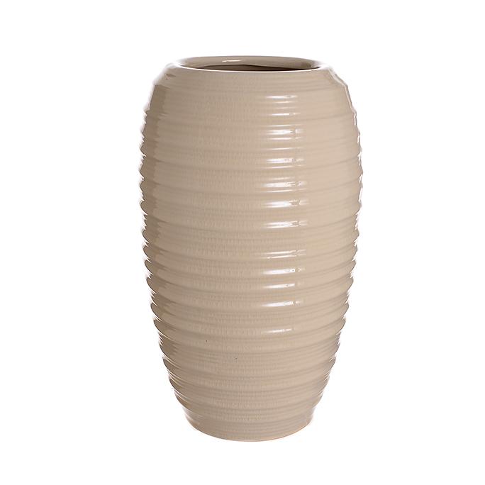 Ваза-сосуд керамическая бежевая лилия (36см) L179 беж
