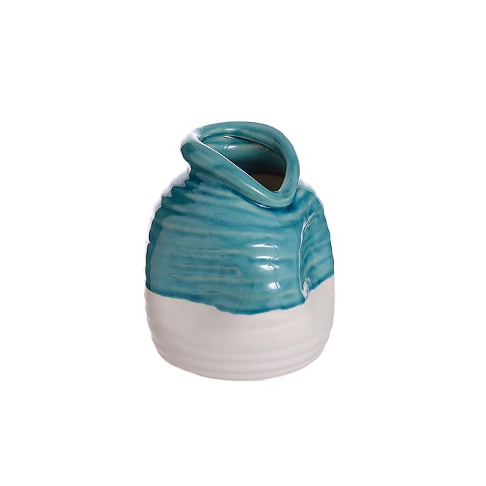 Ваза керамический Голубая роза (16см) L307