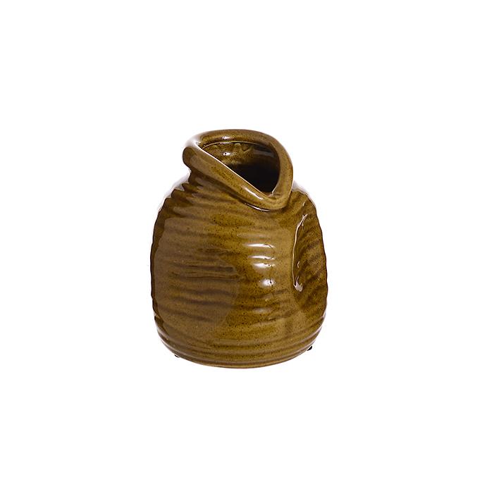 Ваза керамическая Коричневая роза (16см) L307