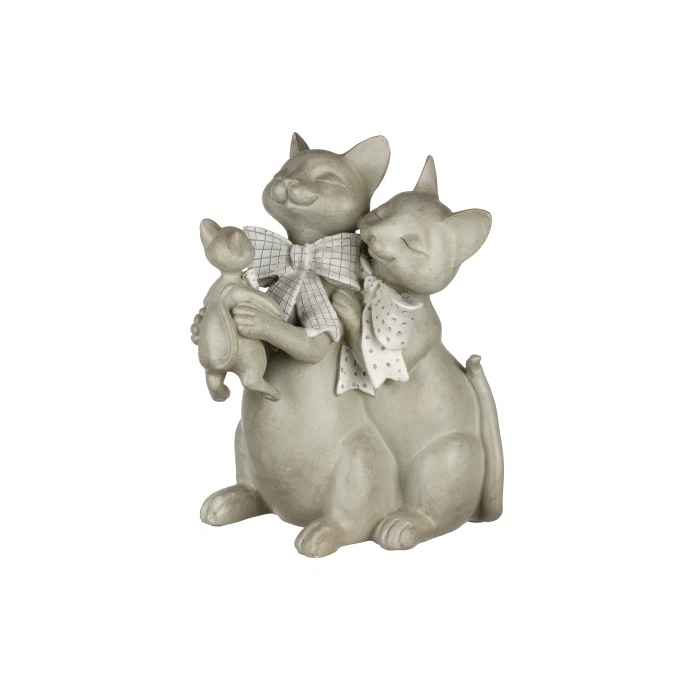 Статуэтка кошки с бантиком 20х17х26 QJ99-0044