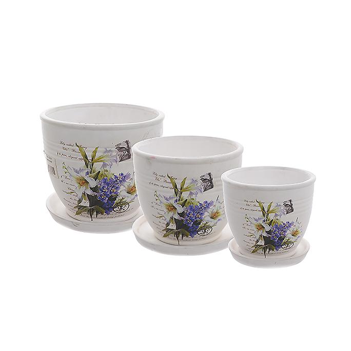 Набор кашпо Цветы YX08A01-3BW