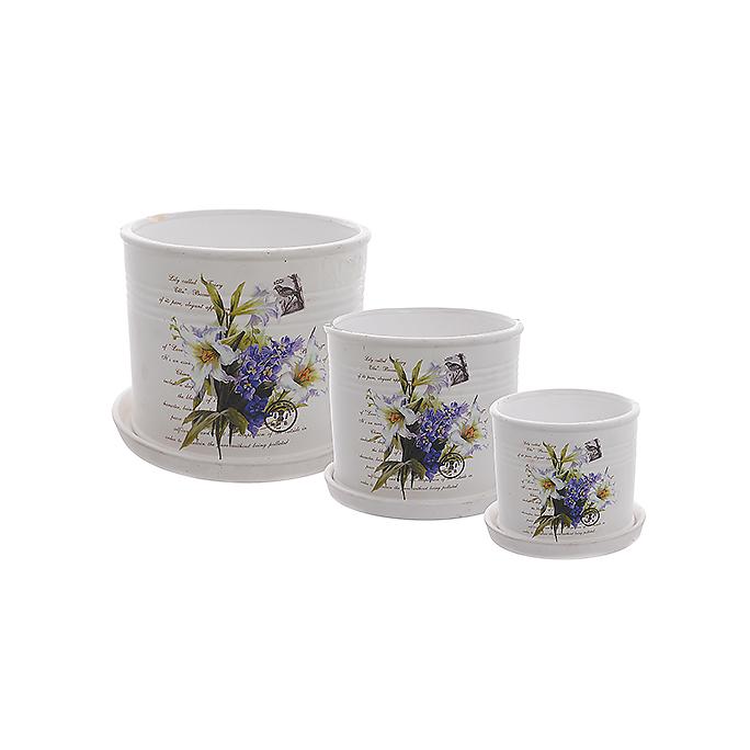 Набор кашпо Цветы YX08A153-3BW