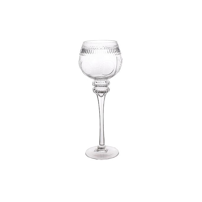 Подсвечник стеклянный Прозрачный империал (35см) 15Q339