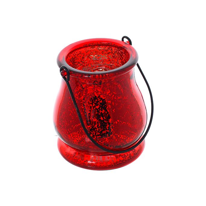 Подсвечник стеклянный Красный мак 9388-12