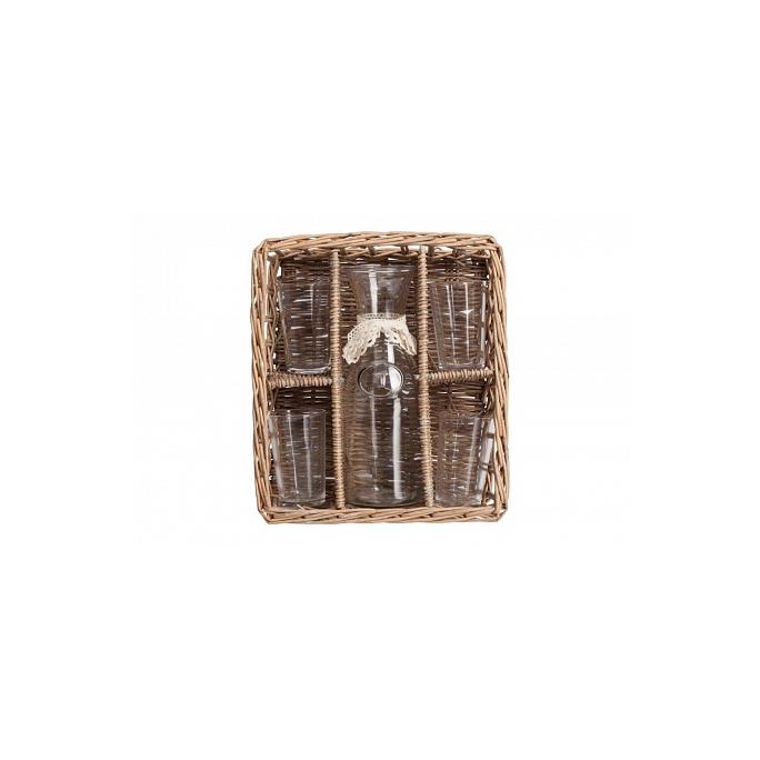 Набор для пикника в плетеной корзинке Picnic DG-D-948