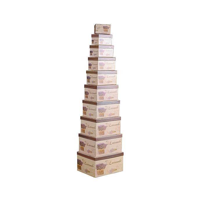 Набор коробок с розой из 10 шт. HY-0041