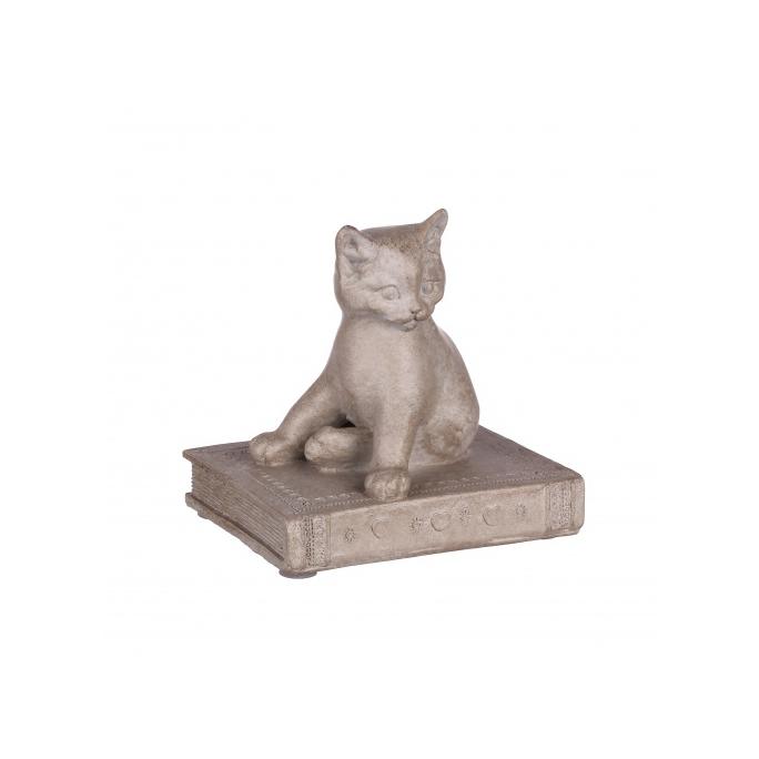 Статуэтка кошка на книге 9,5х7х9 QJ99-0036