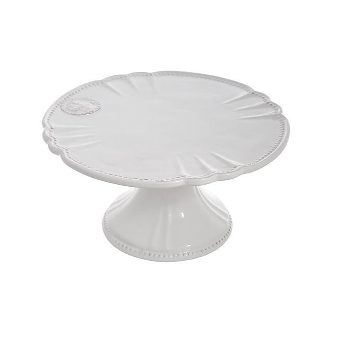 Тортница керамическая белая T02321