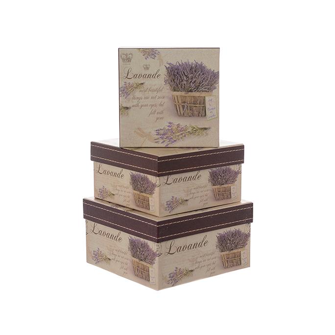 Набор подарочных коробок картон LAVANDE 3 шт W8876