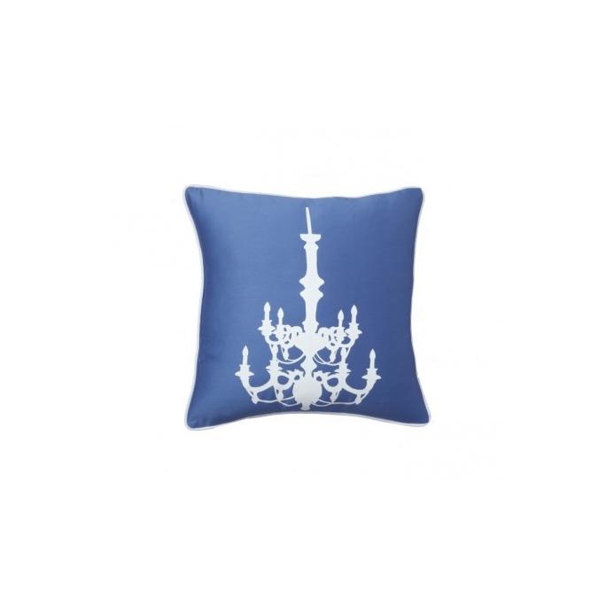 Подушка с принтом Chandelier Diamond-Blue DG-D-PL01B