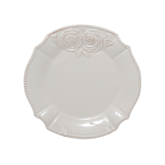 Тарелки керамические белые 21 см. 6 шт. T18607-1