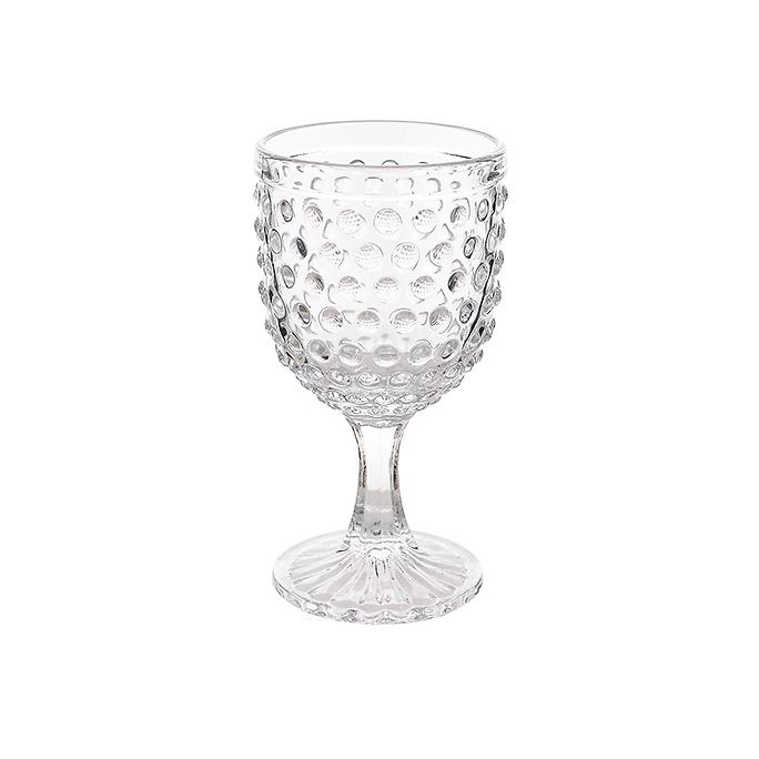 Бокал стеклянный Прозрачный горошек (набор 6шт)