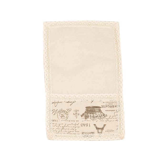 Cалфетка из льна с кружевом Эйфелева башня (от 2-х шт.) 30х45см 0399-7 (30х45)