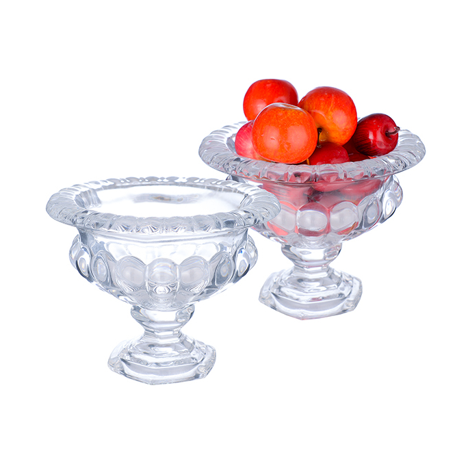Фруктовница-конфетница стеклянная малая 0641-2
