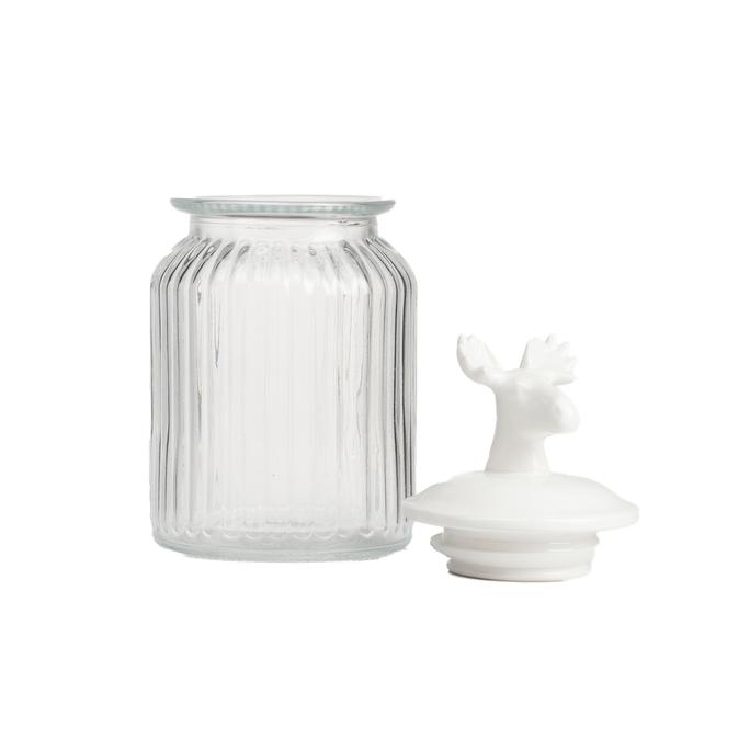 Декоративная банка с крышкой Deer Средняя DG-D-1264-3