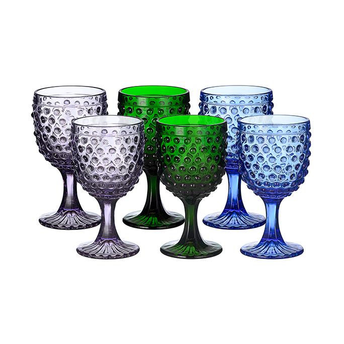 Набор бокалов Стеклянный горошек