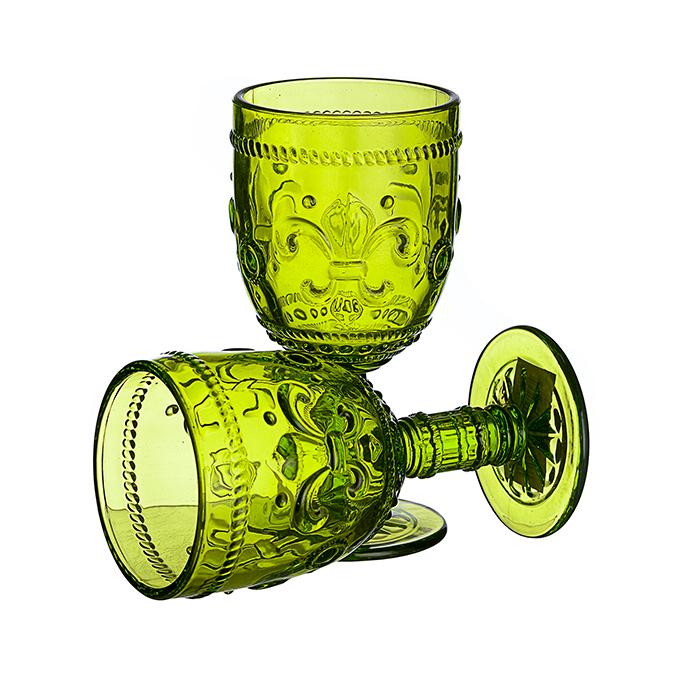 Бокал для вина Дикая зеленая лилия (набор 6шт)