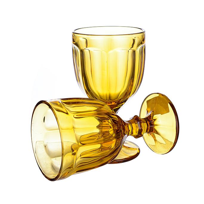Бокал для вина желтый (набор 6шт)
