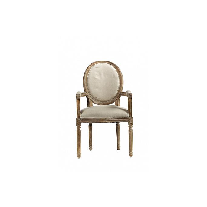 Кресло Vintage French Round Кремовый Лен DG-F-ACH414