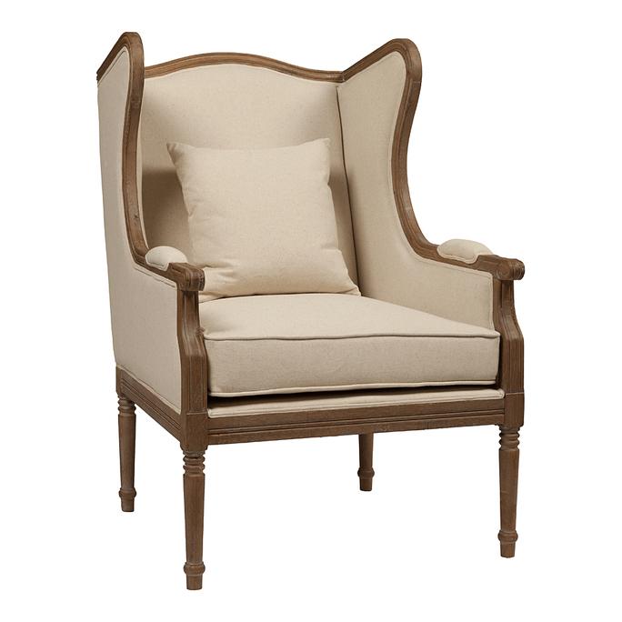Кресло Cameron Armchair Белый Лен DG-F-ACH430