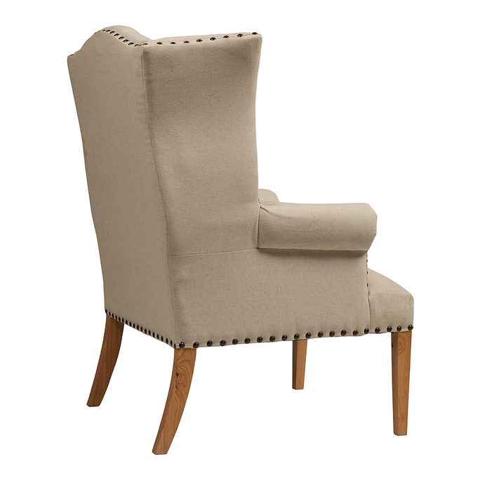 Кресло Quinn Tufted Armchair Белый Лен DG-F-ACH478