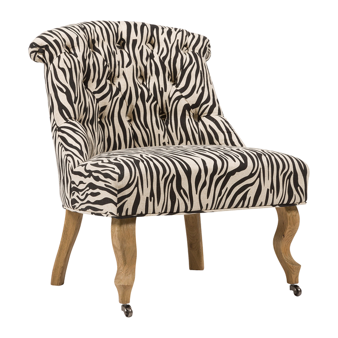 Кресло Amelie French Country Chair Зебра DG-F-ACH496-2