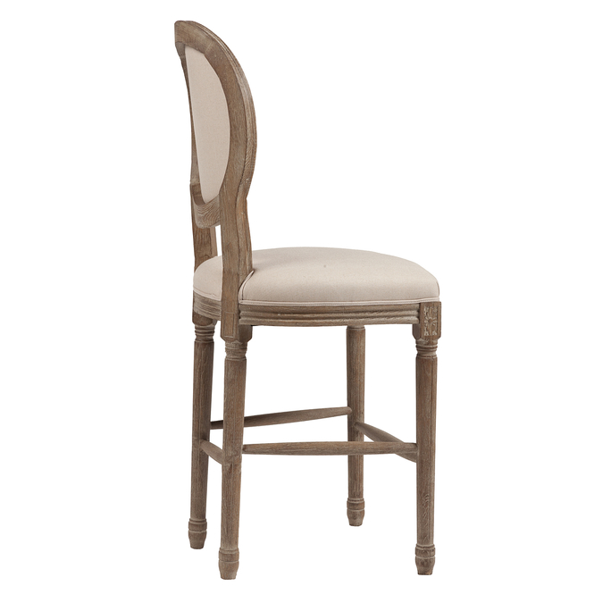 Барный стул Vintage French Round Кремовый Лен DG-F-TAB70