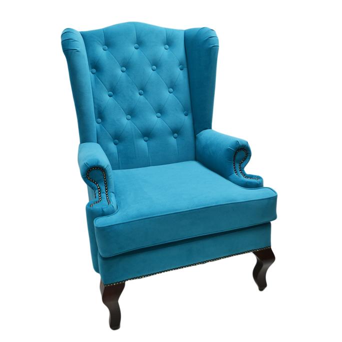 Каминное кресло с ушами Велюр Бирюзовый DG-KA-F-SF04-Eni-33